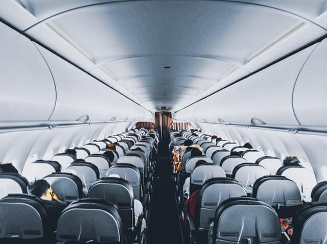 B737の機内の様子
