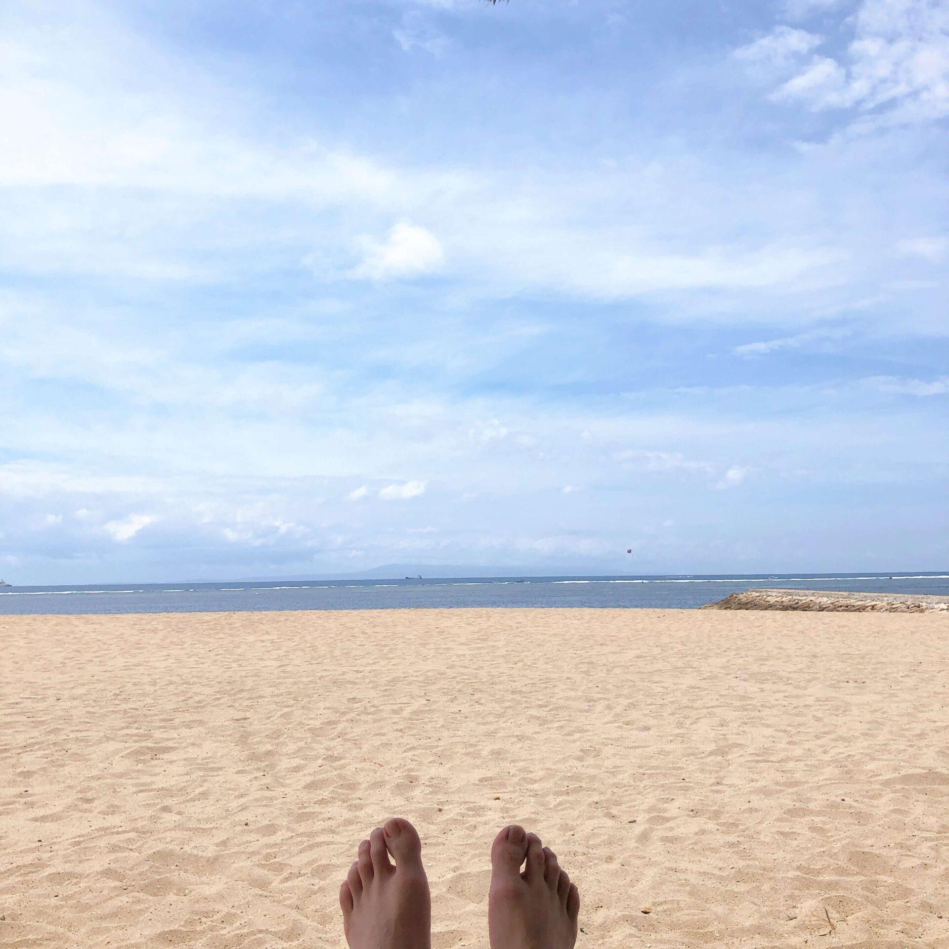 プライベートビーチでのんびり