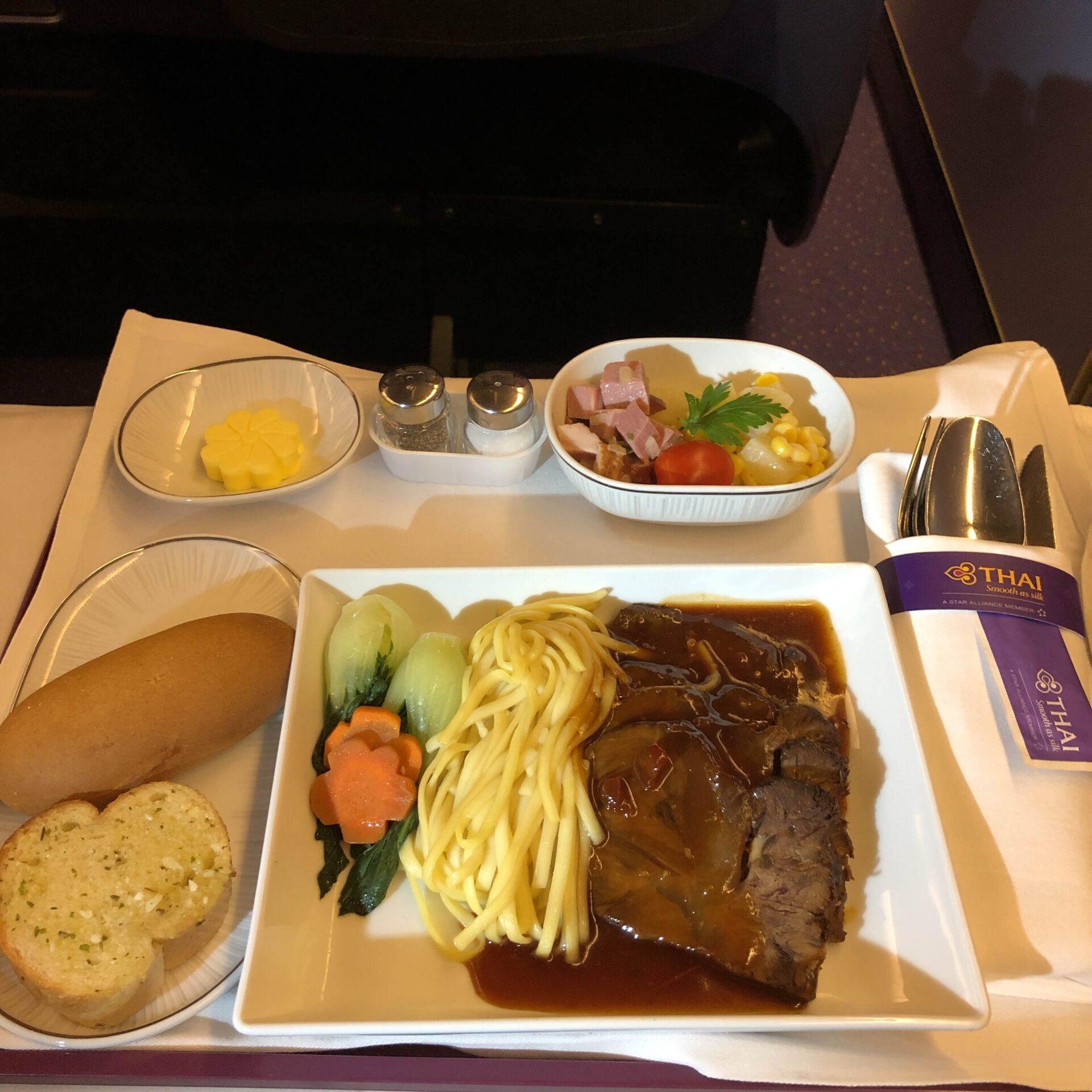 ビジネスクラス昼間便の機内食