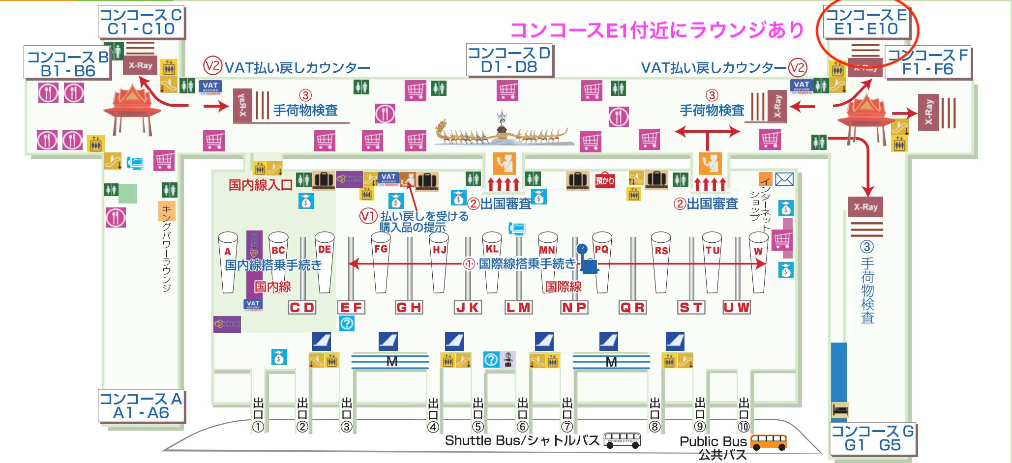 スワンナプーム国際空港全体マップ