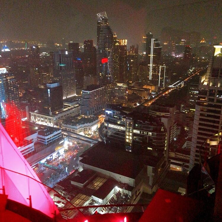 redskyから眺めるバンコクの夜景