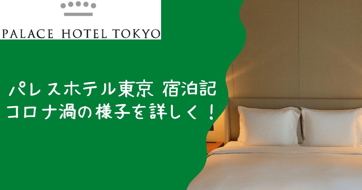 パレスホテル東京 宿泊記|コロナ渦の様子を徹底レビュー!
